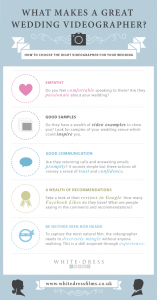White Dress Films Infographic - What Makes A Great Wedding Videographer?
