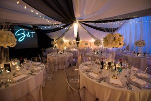 Marquee winter wedding