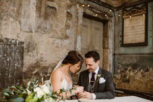 London bride and groom