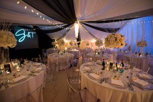 Marquee winter wedding